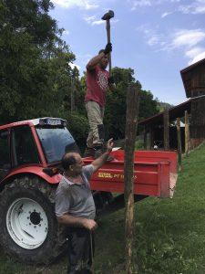 Zaunarbeiten am Gut Jägerhof